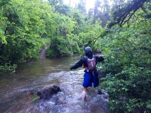 Kurt at stream crossing #1