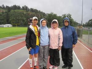 Kurt with his amazing family crew - Jenice, Nancy, Ken