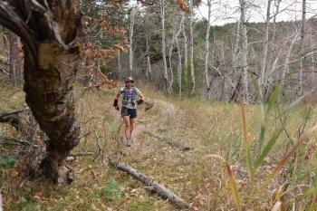 Running back toward Roxborough - photo courtesy of Kurt Hardester