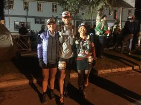 At the start with Raquel and Don